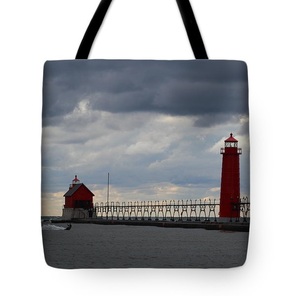 Grand Haven Wind Surfing Tote Bag