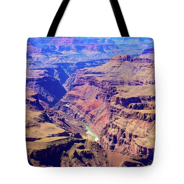 Grand Haze Canyon Tote Bag