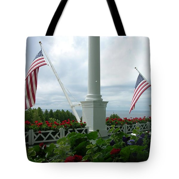 Grand Hotel Flags Tote Bag