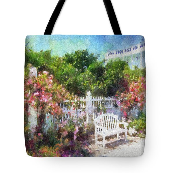 Grand Hotel Gardens Mackinac Island Michigan Tote Bag