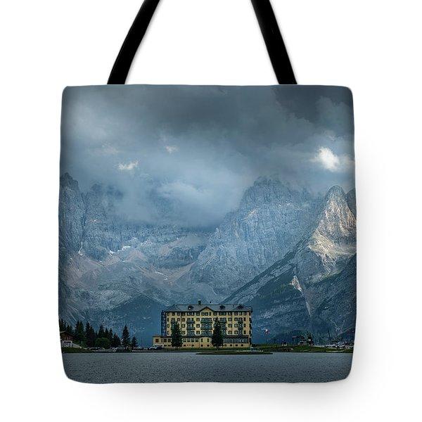 Grand Hotel Misurina Tote Bag