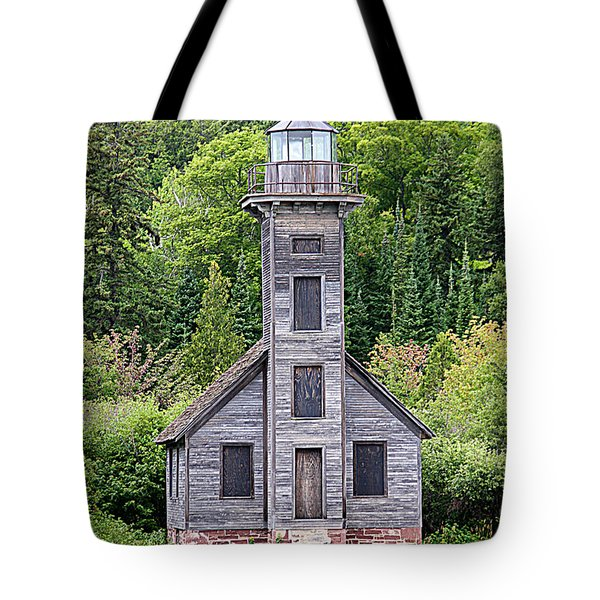 Tote Bag featuring the photograph Grand Island East Channel Lighthouse #6554 by Mark J Seefeldt