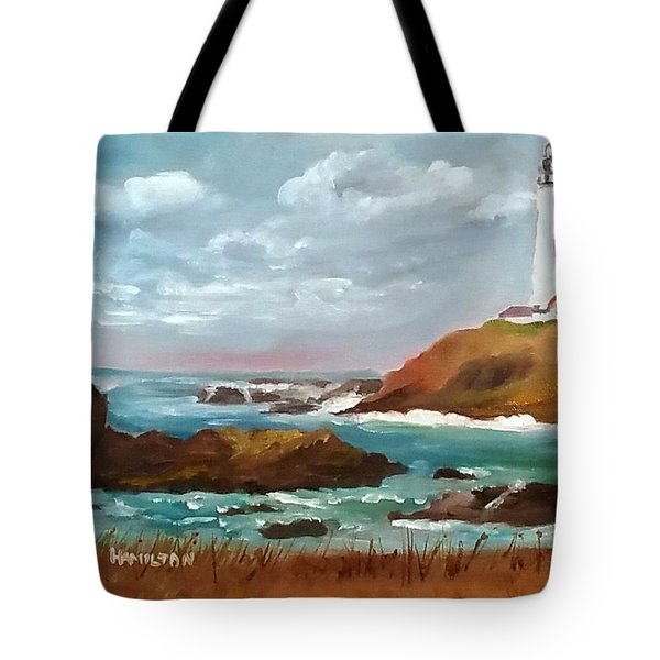 Grand Lighthouse Tote Bag by Larry Hamilton
