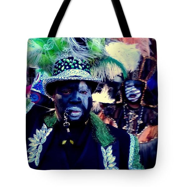 Grand Marshall Of The Zulu Parade Mardi Gras 2016 In New Orleans Tote Bag