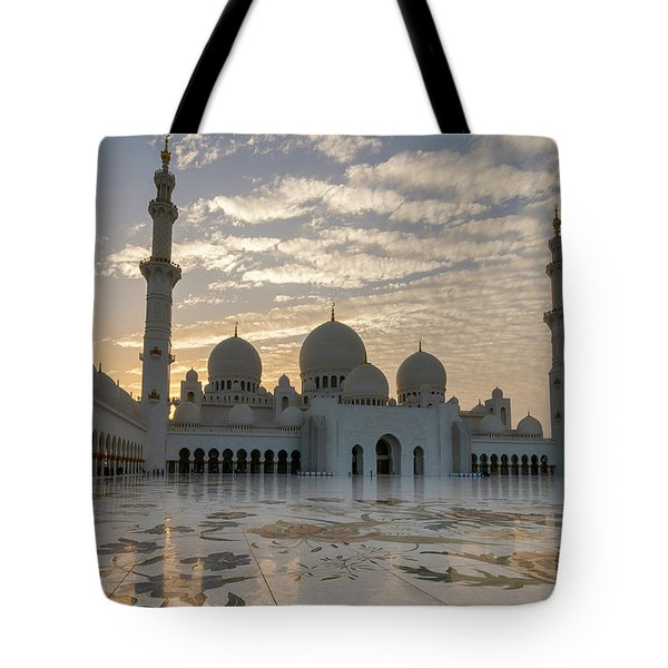 Grand Mosque Sunset Tote Bag