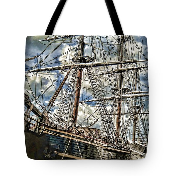 Tote Bag featuring the photograph Grand Old Sailing Ship by Roberta Byram