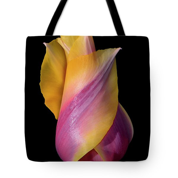 Grand Opening - Purple And Yellow Tulip 001 Tote Bag