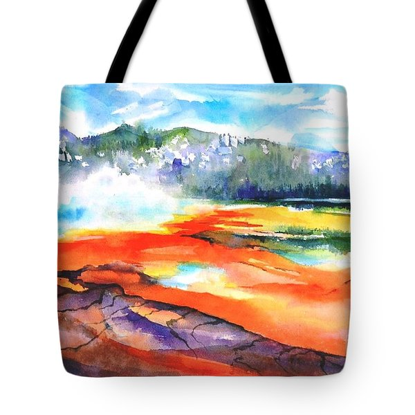 Grand Prismatic Hot Spring Tote Bag by Betty M M Wong