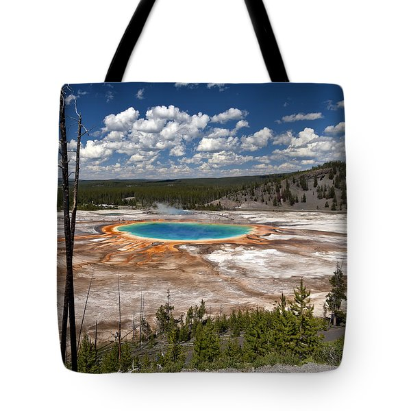 Tote Bag featuring the photograph Grand Prismatic by John Gilbert