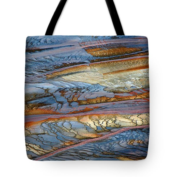 Grand Prismatic Runoff Tote Bag by Bruce Gourley