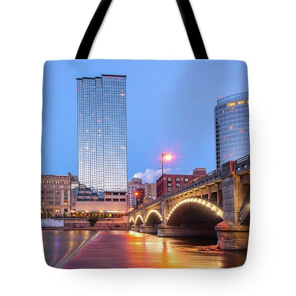 Grand Rapids Riverfront Tote Bag