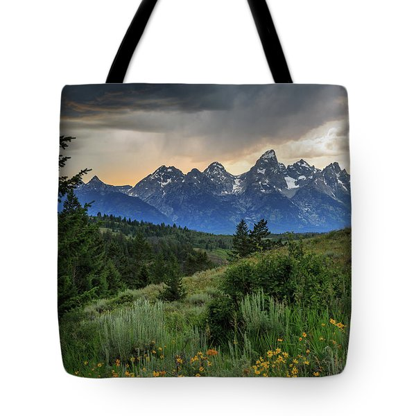 Grand Stormy Sunset Tote Bag