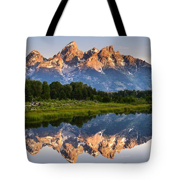 Grand Teton Awakening Tote Bag