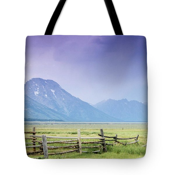 Grand Teton Homestead Tote Bag