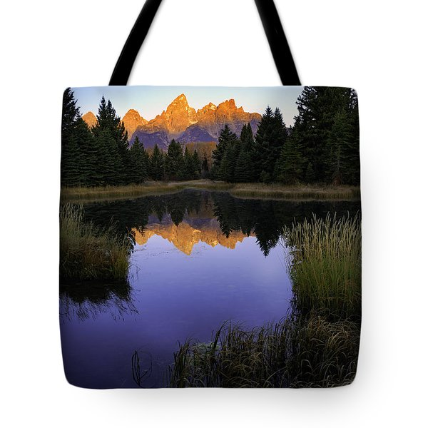 Grand Teton Morning Tote Bag by Craig J Satterlee