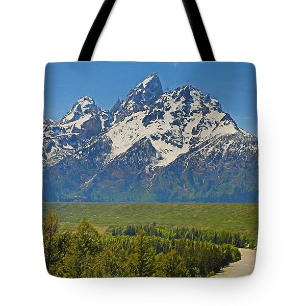 Grand Teton National Park And Snake River Tote Bag