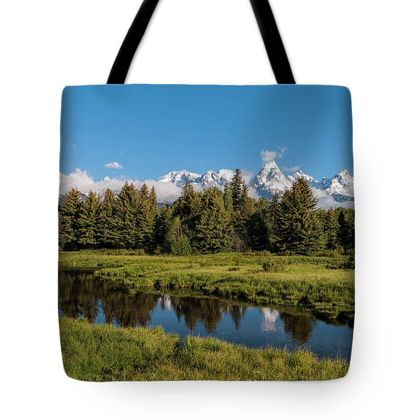 Grand Teton Reflection Tote Bag by Brian Harig