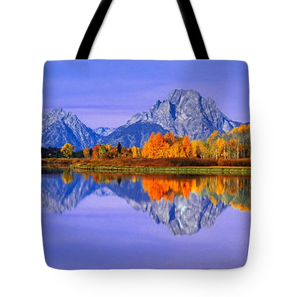 Grand Tetons And Reflection In Grand Tote Bag