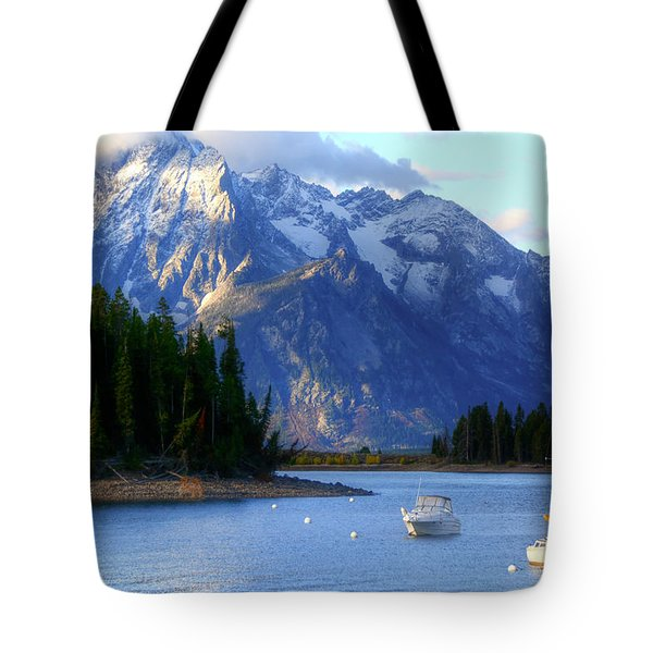 Grand Tetons Tote Bag by Charlotte Schafer