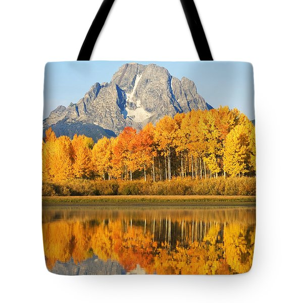 Grand Tetons In Autumn 2 Tote Bag by Ron Dahlquist - Printscapes