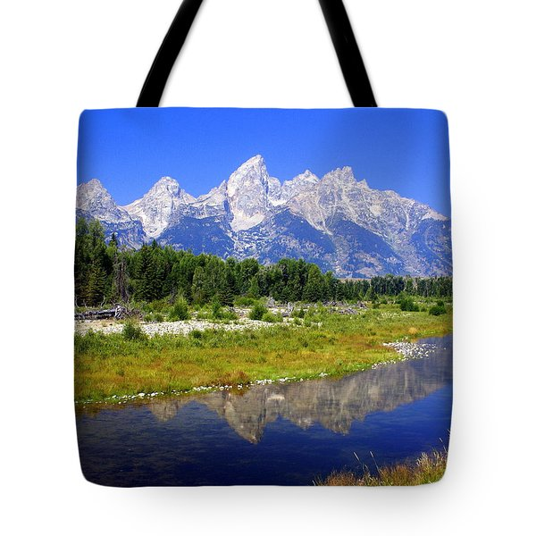 Grand Tetons Tote Bag by Marty Koch