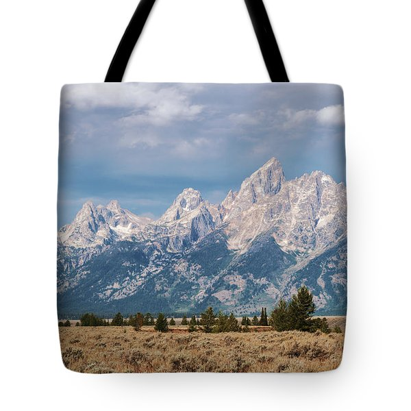 Tote Bag featuring the photograph Grand Tetons by Sharon Seaward