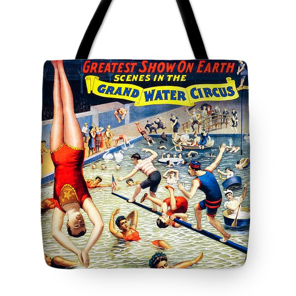 Grand Water Circus Barnum And Bailey 1895 Tote Bag