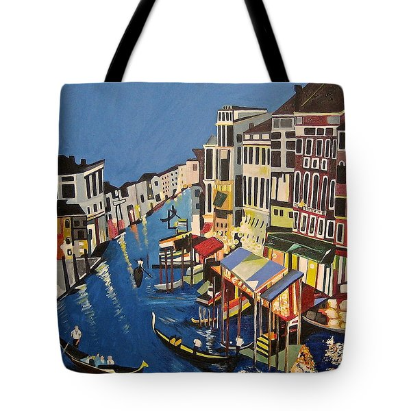 Tote Bag featuring the painting Grande Canal by Donna Blossom