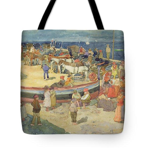 Grande Marina  Capri Tote Bag by Maurice Brazil Prendergast