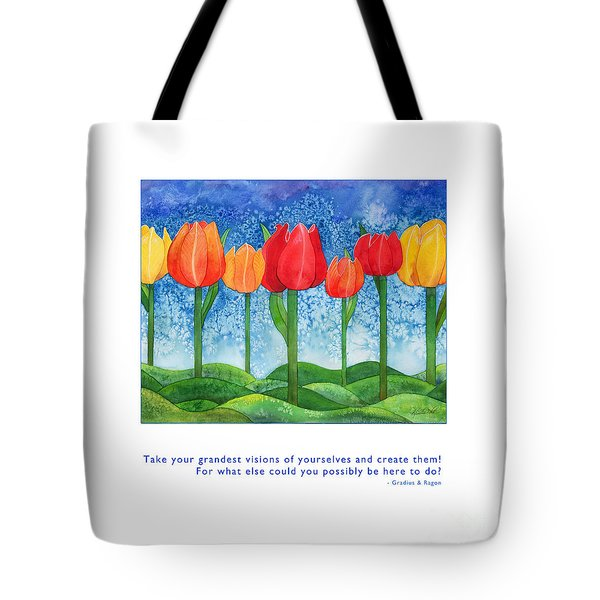Tote Bag featuring the painting Grandest Visions by Kristen Fox