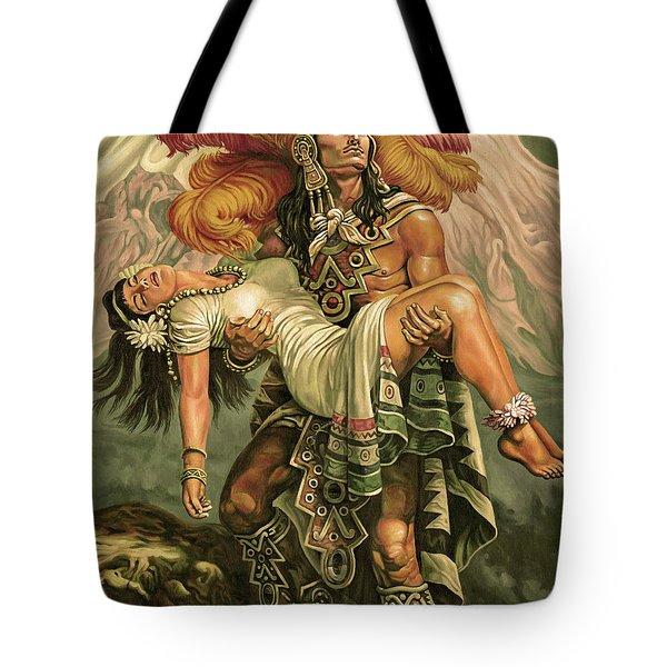 Grandeza Azteca Sepia Tote Bag