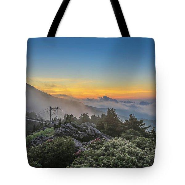 Grandfather Mountain Sunrise Tote Bag