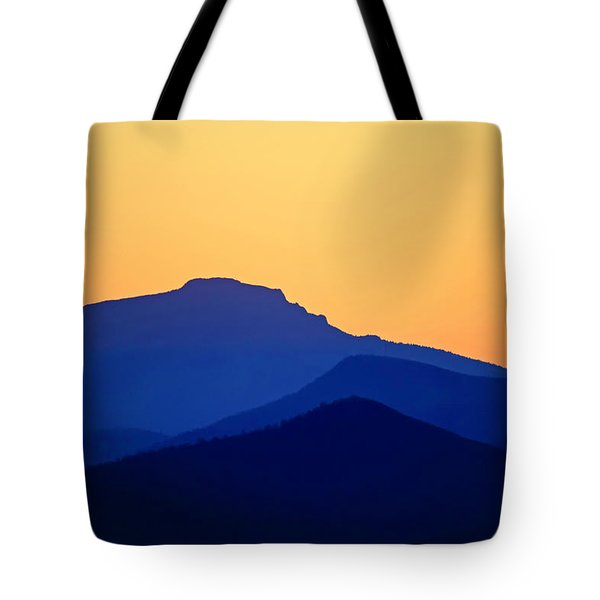 Grandfather Sunset Tote Bag by Dale R Carlson