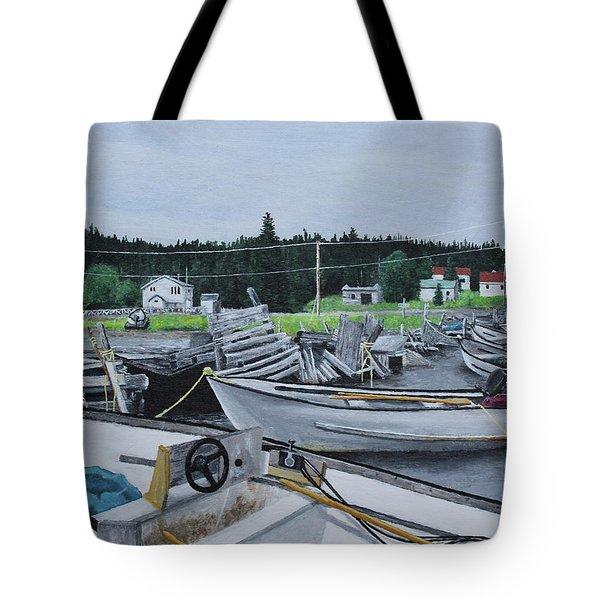 Grandfathers Wharf Tote Bag