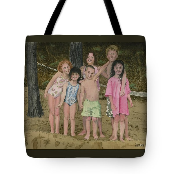 Grandkids On The Beach Tote Bag