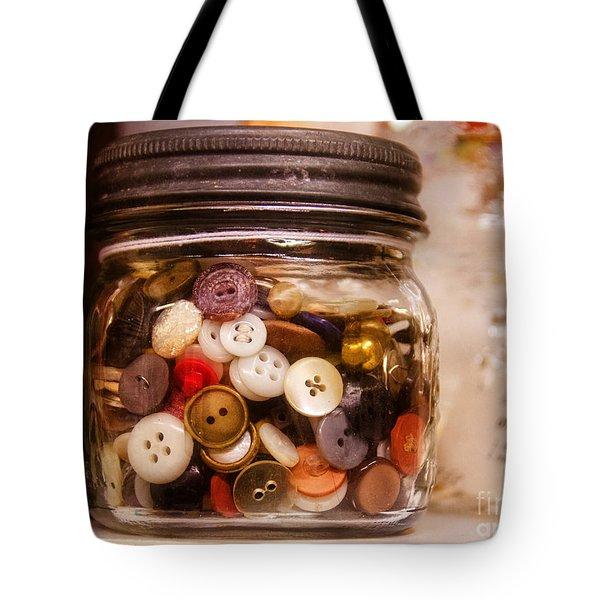 Grandma's Button Jar Tote Bag