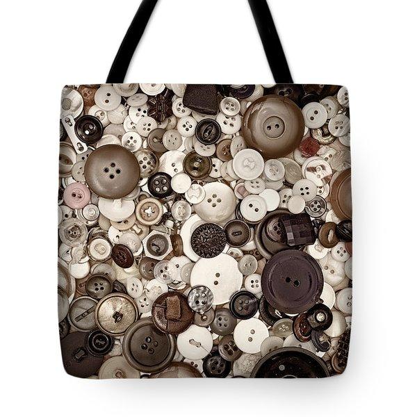 Grandmas Buttons Tote Bag