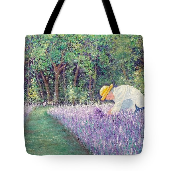 Tote Bag featuring the painting Grandma's Favorite Scent by Susan DeLain