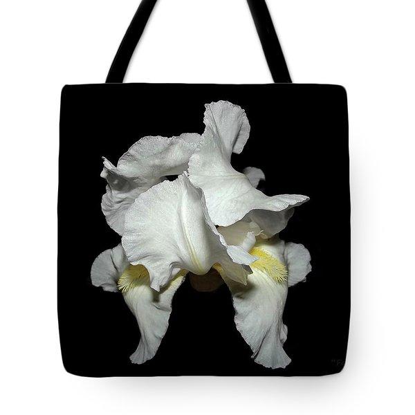 Grandma's White Iris Tote Bag
