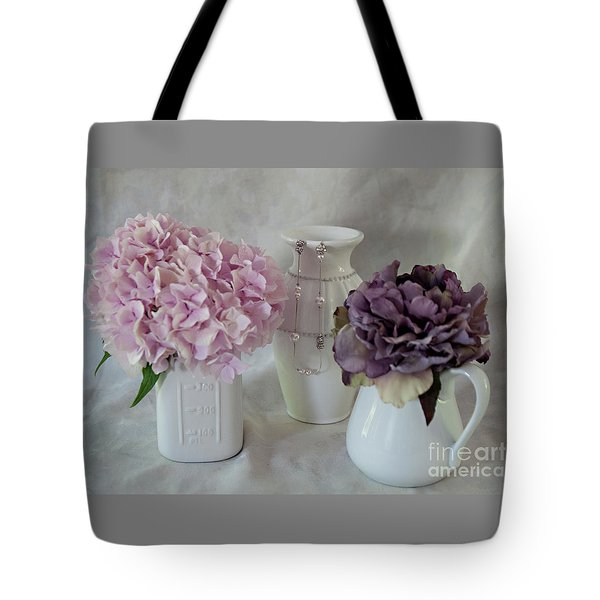 Tote Bag featuring the photograph Grandmother's Vanity Top by Sherry Hallemeier