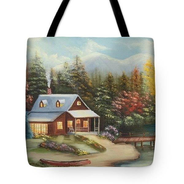 Grandpa's Cabin Tote Bag
