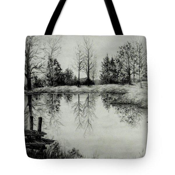 Grandpa's Pond Tote Bag