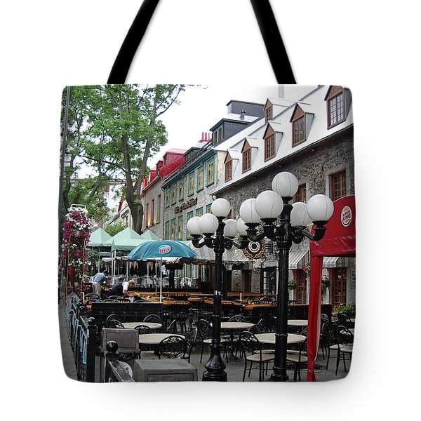 Tote Bag featuring the photograph Grande Allee Est by John Schneider