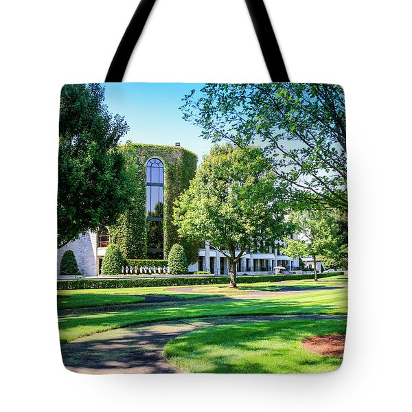 Grandstand At Keeneland Ky Tote Bag by Chris Smith