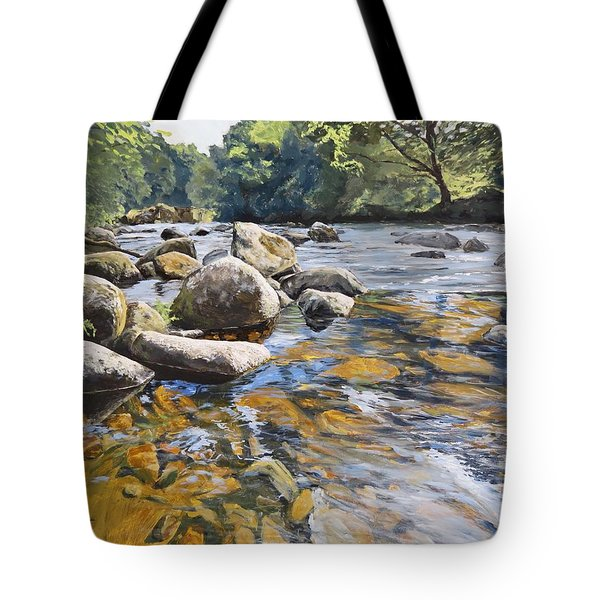 Granite Boulders East Okement River Tote Bag