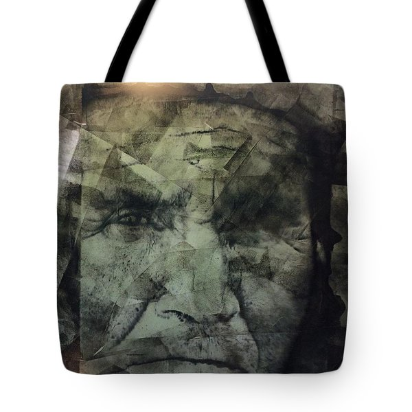 Granite Faces Of Men And Mountains Tote Bag