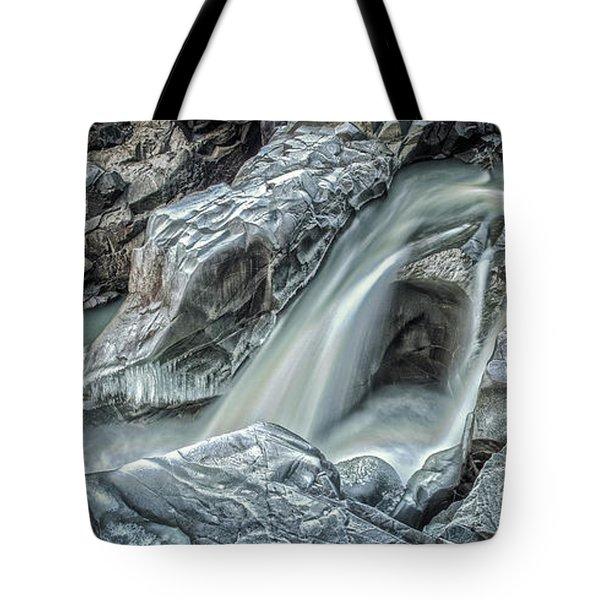 Granite Falls Blues Tote Bag by Tony Locke