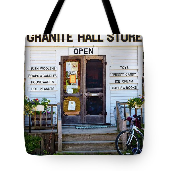 Tote Bag featuring the photograph Granite Hall Store  by Susan Cole Kelly