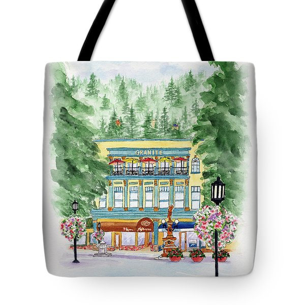 Granite On The Plaza Tote Bag