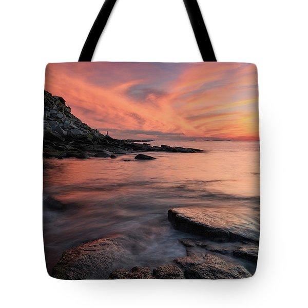 Granite Sunset Rockport Ma. Tote Bag